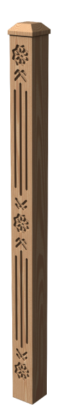 Holzpfosten Nr.6