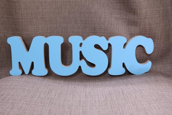 """Деревянная надпись """"Music"""""""