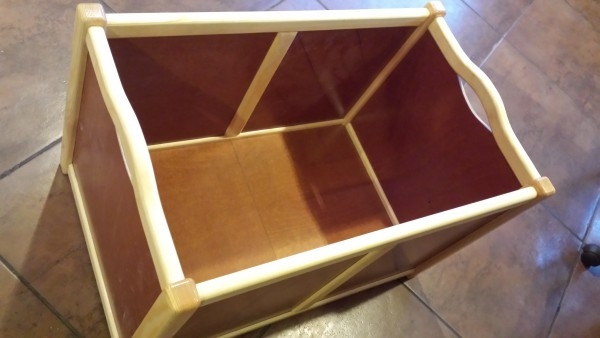 Wooden box for things