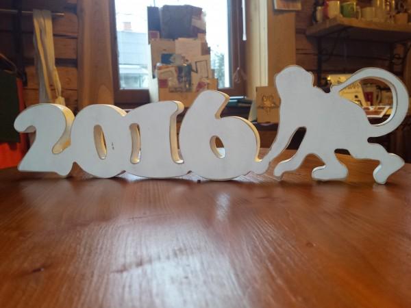 """Holzaufschrift """"2016"""""""