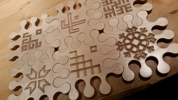 """A set of coasters for mugs """"Puzzle"""""""