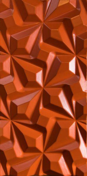 3D sienu panelis Zig-Zag Stars