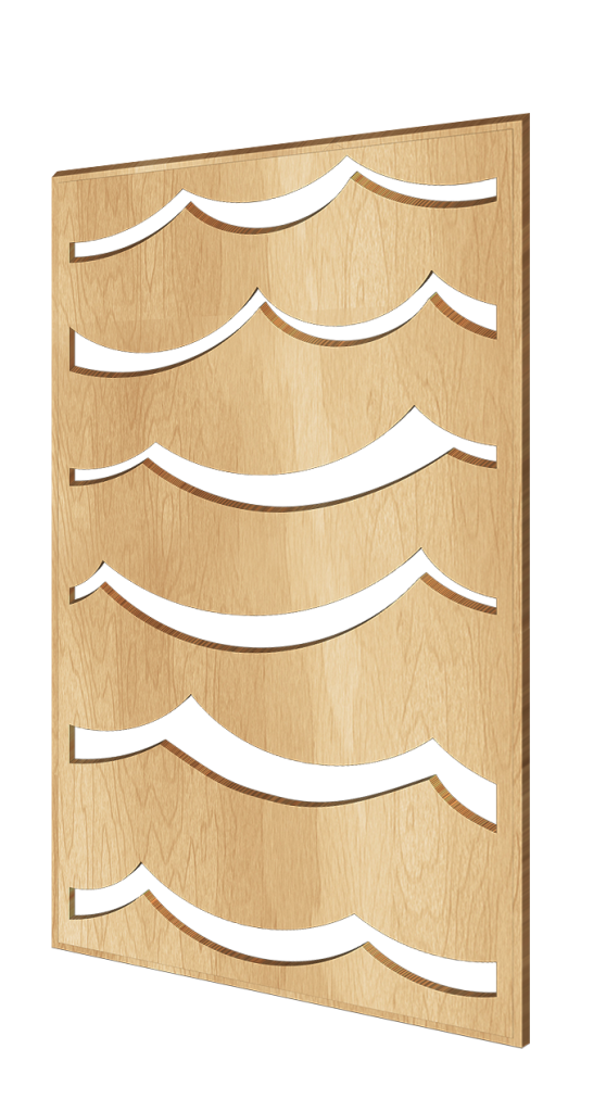 Scandinavian-style wooden decorative wall panel Waves