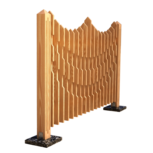 Decorative fence panel CROWN 180