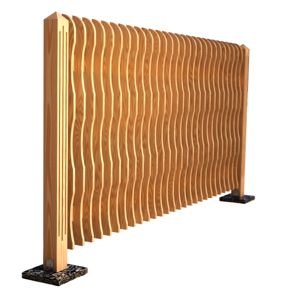 Decorative fence panel WAVE 280