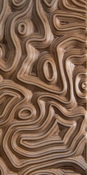 3d wall panel Topography