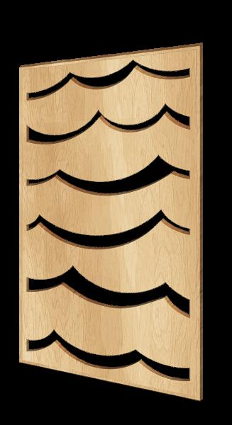 Scandinavian-style decorative wall panel Waves