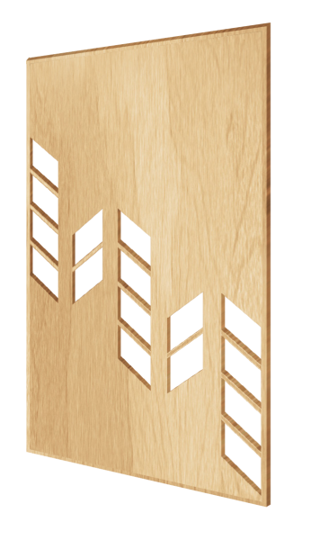 Scandinavian-style decorative wall panel House