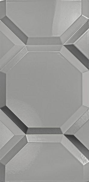 3d wall panel Corner Grey