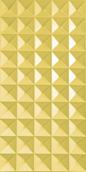 3d wall panel In Cubic Yellow