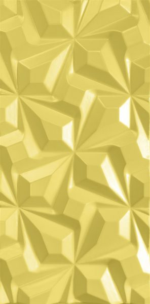 3d wall panel Zig-Zag Stars Yellow