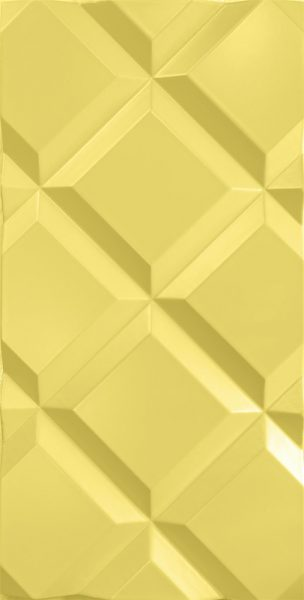3d wall panel Quadrante Yellow