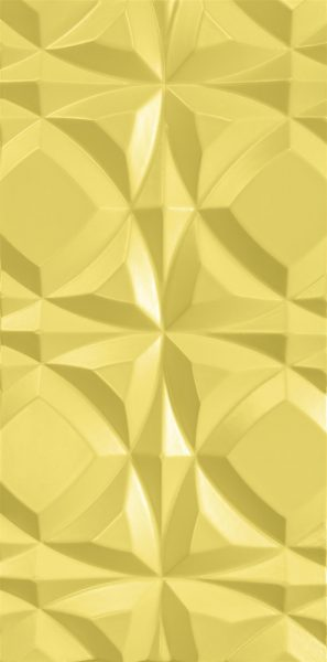 3d wall panel Round Stars Yellow